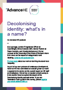 Decolonising identity: what's in a name?