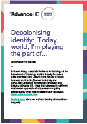 Decolonising identity: today world i'm playing the part of...