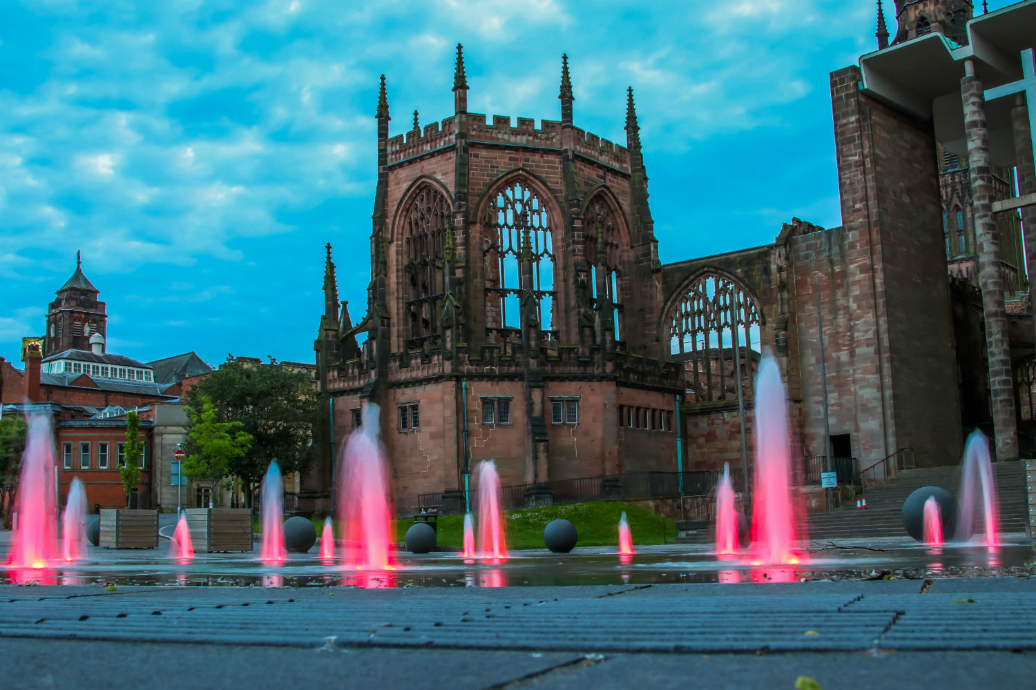 Photo of Coventry at night