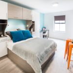 Photo of a bedroom at St Giles student accommodation in Durham