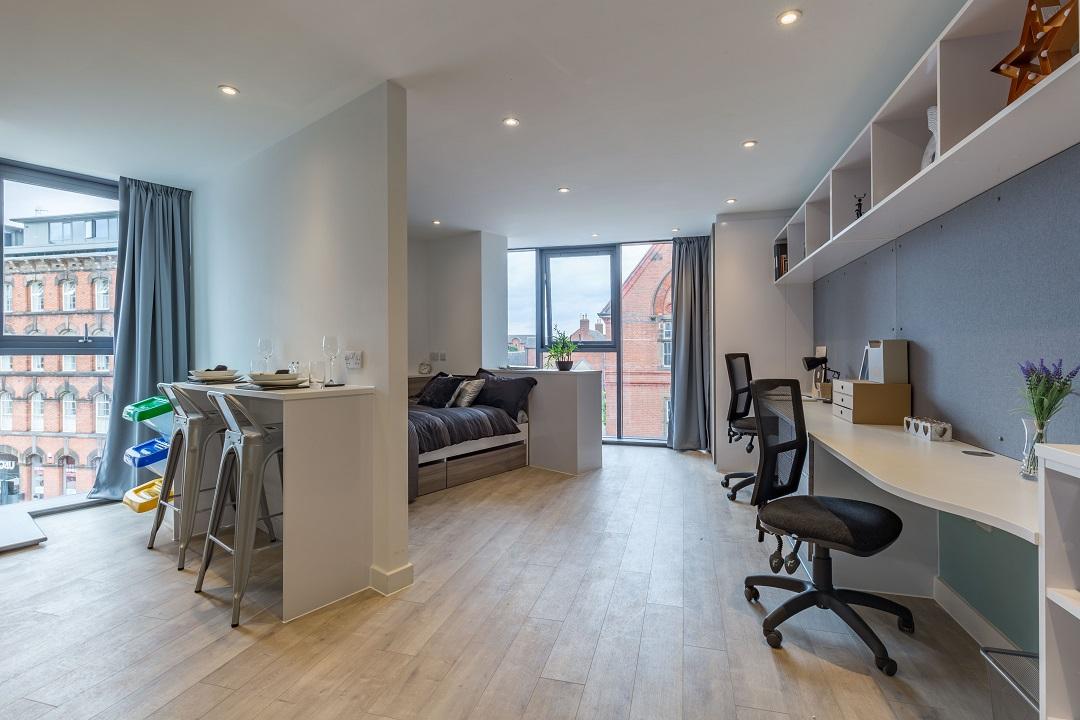 Extra large premium studio at Lumis Student Living Leicester