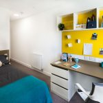 En-suite room at Grand Felda student accommodation in London