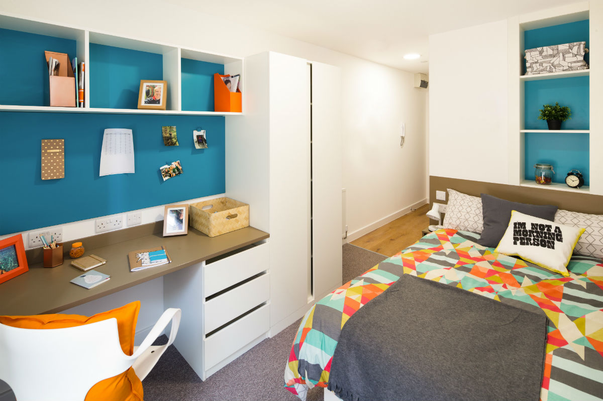 Studio room at Grand Felda student accommodation in London