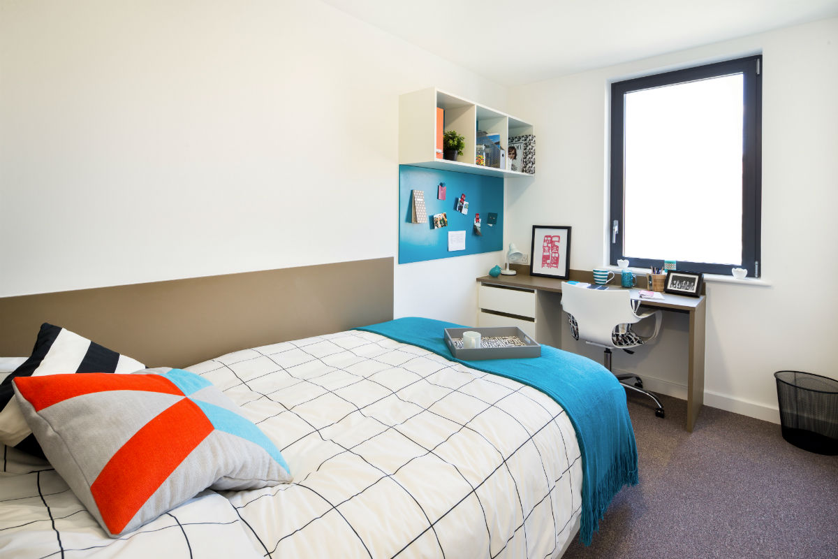 Twodio bedroom at Grand Felda student accommodation in Wembley London