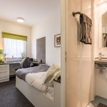 En-suite room at Russel View student accommodation in Nottingham