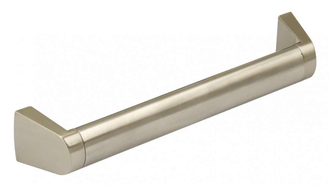 Nugent Angled Boss Bar Handle Stainless Steel Bar with Zinc Alloy Feet