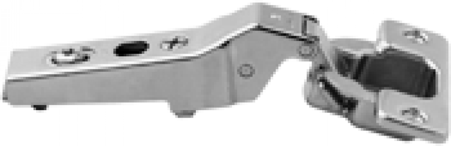 CLIP top angled hinge 95° for +20°, OVERLAY, boss: screw, NP