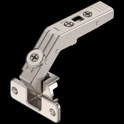 CLIP top bi-fold hinge 60°, boss: SCREW-ON, nickel