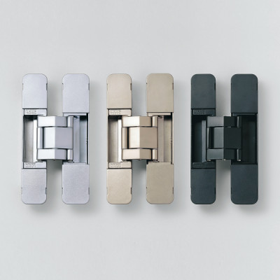 HES 3D concealed hinge, 120 mm max weight 2 pcs 30 kg with cover caps, silver