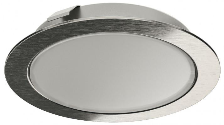 LED downlight 12 V, Ø 65 mm, IP20, set, LOOX LED 2047, stainless steel, warm white 3000 K