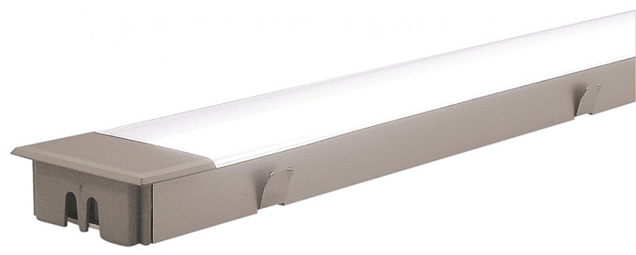 Fluorescent strip light, 240 V, 11 W, flush recessed mounting, L=430 mm, hole cut 427 mm