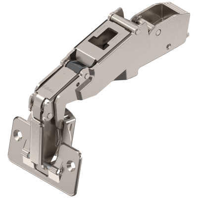 CLIP top wide angle hinge 170°, dual applications, boss: SCREW-ON, nickel