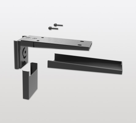 Shelf support universal for PECASA, for wood-composite shelves, PEKA, black