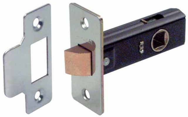 Mortice latch, tubular, case 79 mm, STARTEC, backset 46 mm, case 66 mm, polished nickel