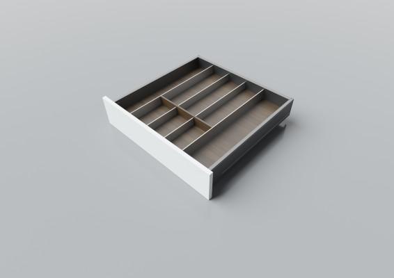 Cutlery divider for LEGRABOX/TA'OR C=550-650 mm, NL=550 mm, walnut