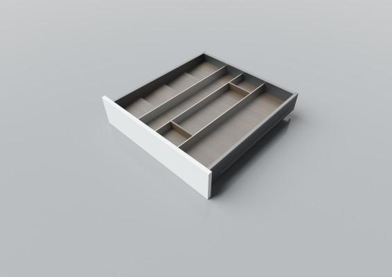 Cutlery divider for LEGRABOX/TA'OR C=550-600 mm, NL=600 mm, walnut