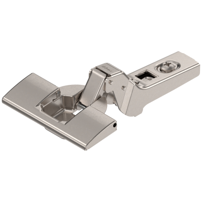 CLIP hinge 100°, 18mm cranked, steel, boss: INSERTA, nickel