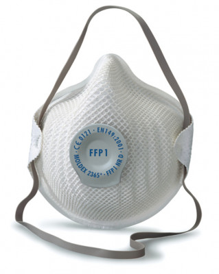 Dust mask, disposable, fine-dust, with comfortable sealing lip, protective class: FPP1
