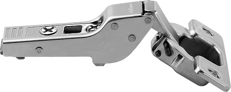 CLIP top hinge 120°, 9 mm dual applications, boss: screw-on, NP