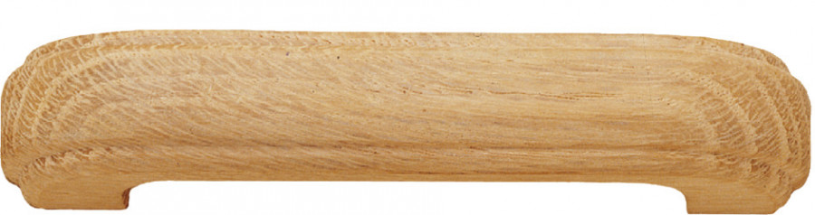 D pull handle, oak, centres 96 mm, unfinished