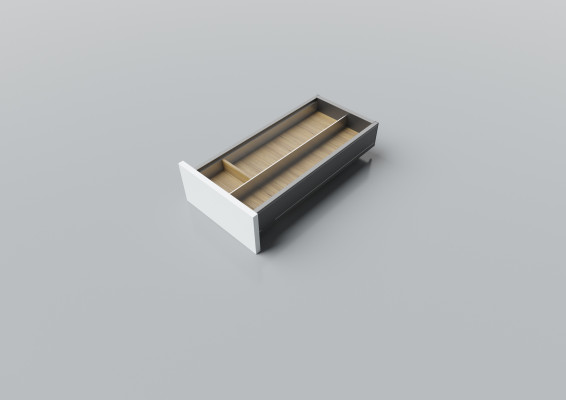 Cutlery divider for LEGRABOX/TA'OR C=300-350 mm, NL=550 mm, oak