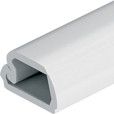 Cable channel, length 2500 mm, with hinged lid, for concealing LOOX cables, white RAL9010