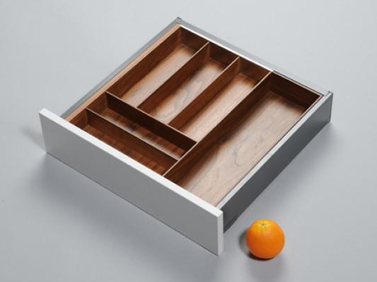 Cutlery divider for ANTARO/LEGRABOX/TA'OR C=361-615 mm, NL=450 mm, walnut