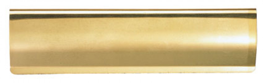 Internal letter plate tidy, 300x95 mm, polished brass