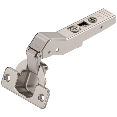CLIP top 95° angled hinge +45° applications, OVERLAY, unsprung, boss: SCREW-ON, nickel
