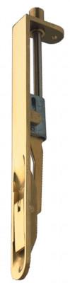 Flush bolt, lever action, 203x19 mm, brass, radius ends, polished