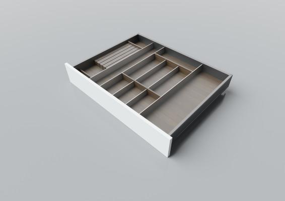 Cutlery divider for LEGRABOX/TA'OR C=700-900 mm, NL=600 mm, walnut