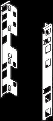 LEGRABOX back fixings bracket, height C (177mm), left+right, Nickel