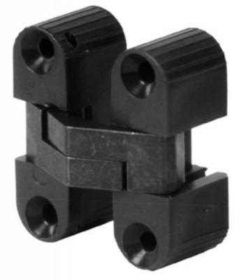 Concealed hinge, 180ø, for minimum 16 mm panel thickness, uned design, brown plastic case