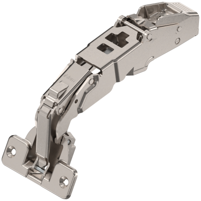 CLIP top nil protrusion hinge 155°,dual application, unsprung, 9.5mm, nickel