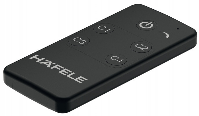 Remote control, for use with remote receiver, Loox, for white LED lights, black
