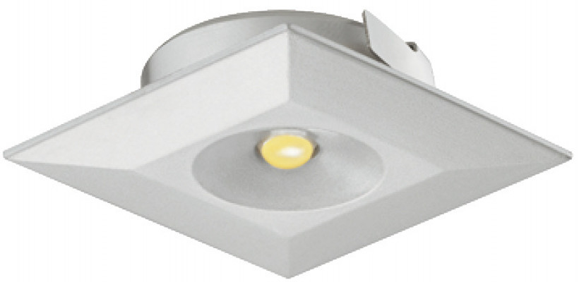LED downlight 350mA/1W, 36x36 mm, IP20, Loox LED 4003, daylight white 6000 K