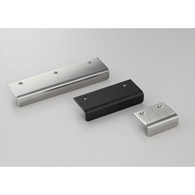 Pull, stainless steel, 95 mm, black