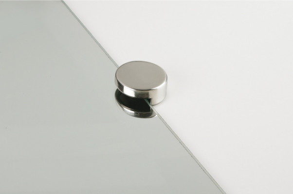 Mirror fitting, edge clip, › 36 mm, nylon, polished stainless steel