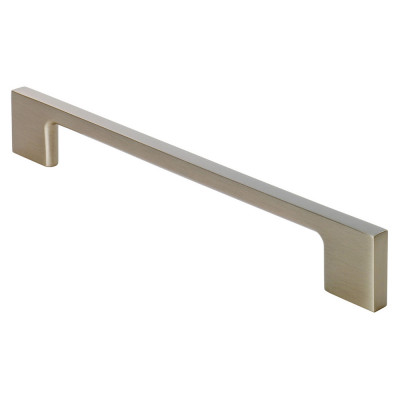 Slim D handle, centres 160 mm, satin nickel