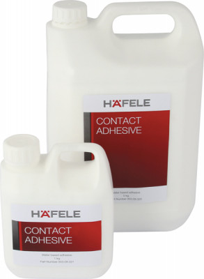 Contact adhesive, water based, size 1-5 kg, häfele, size 5 kg