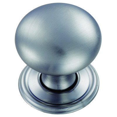 Hollow victorian knob, Ø 32 mm, satin chrome