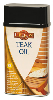 Teak oil, with uv filters, size 1 litre, for wood care