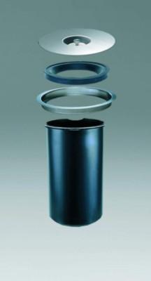 Ergo master worktop bin, 5 litre, Dia- 23cm,,  (9532) WESCO, aluminium