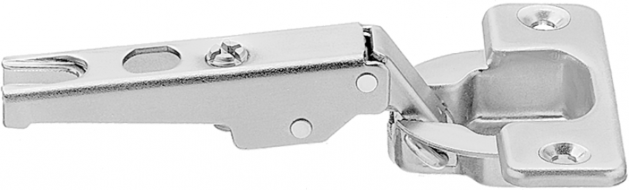 MODUL 100° OVERLAY hinge, boss: SCREW-ON, nickel