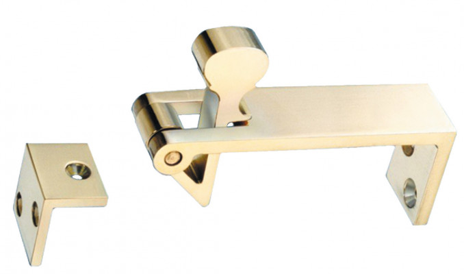 Counterflap catch, polished chrome
