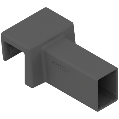 AMBIA-LINE cross gallery connector, for LEGRABOX pure (metal), orion grey