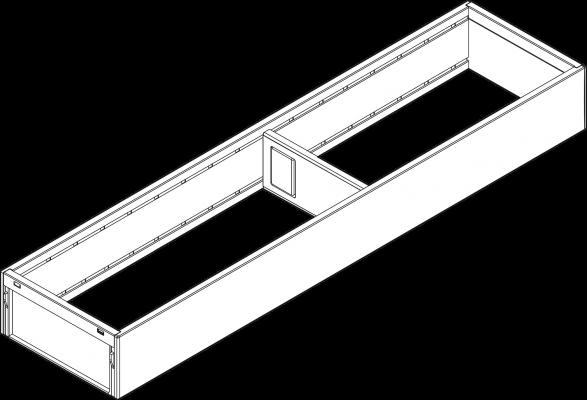 AMBIA-LINE utensil Insert for LEGRABOX, width=100 mm, NL450 mm, orion grey