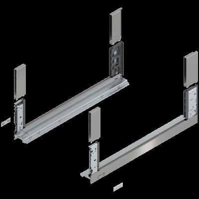 LEGRABOX free drawer side, height C (177 mm), NL=600 mm, left+right, stainless steel