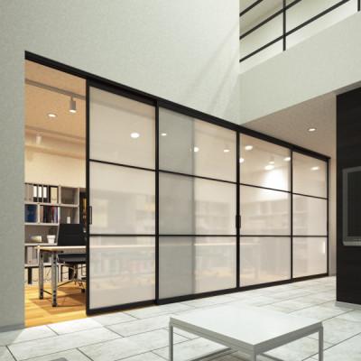 Aluminium frame sliding door