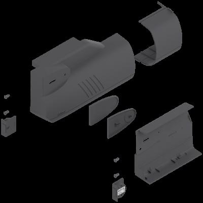AVENTOS HK lift system, cover cap set (inc trigger switch), left+right, dark grey